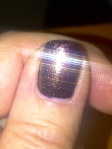purple sparkly nailpolish