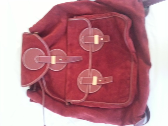 Red Suede Backpack, oh and it's Gucci