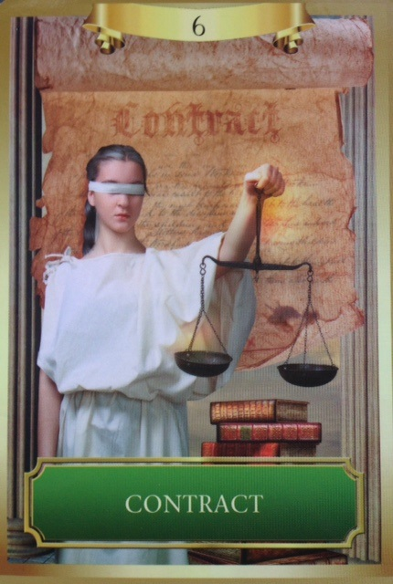 Today is an energy oracle card and it is: CONTRACT